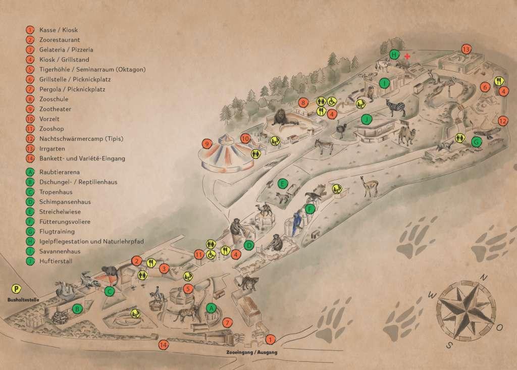 Walter-Zoo Übersichtsplan
